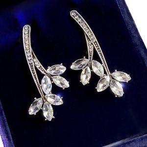Jewelry - Austrian Crystal Branch Stud Earrings